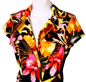Cache short dress Tropical Print on Tradesy