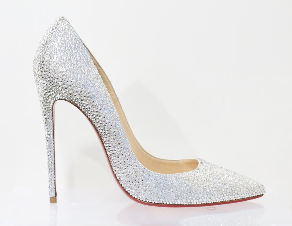 sale retailer 7b0cc 73913 Christian Louboutin White So Kate Swarovski Strass Wedding Pumps Size EU 41  (Approx. US 11) Regular (M, B)