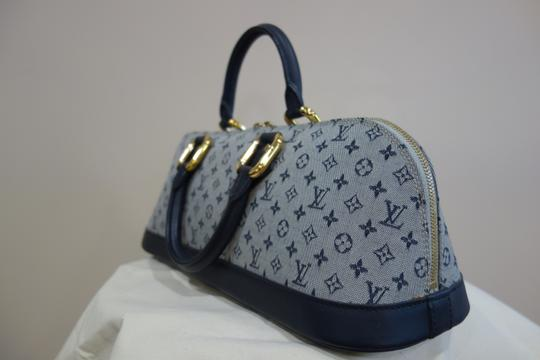 Louis Vuitton Tote in Blue and Grey Image 2