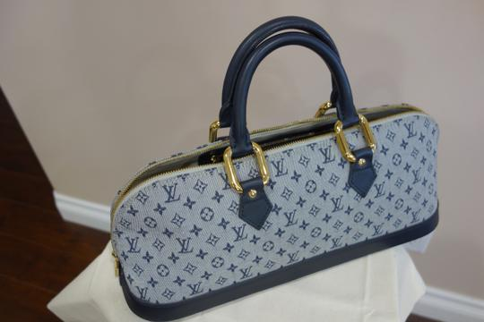 Louis Vuitton Tote in Blue and Grey Image 4