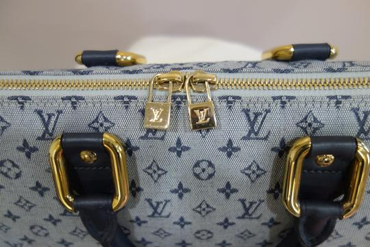 Louis Vuitton Tote in Blue and Grey Image 6