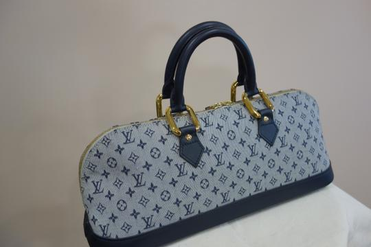 Louis Vuitton Tote in Blue and Grey Image 7
