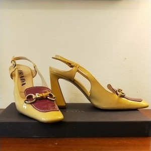 Prada Yellow and maroon Pumps