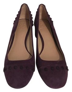 Tory Burch Suede Colt Purple Pumps