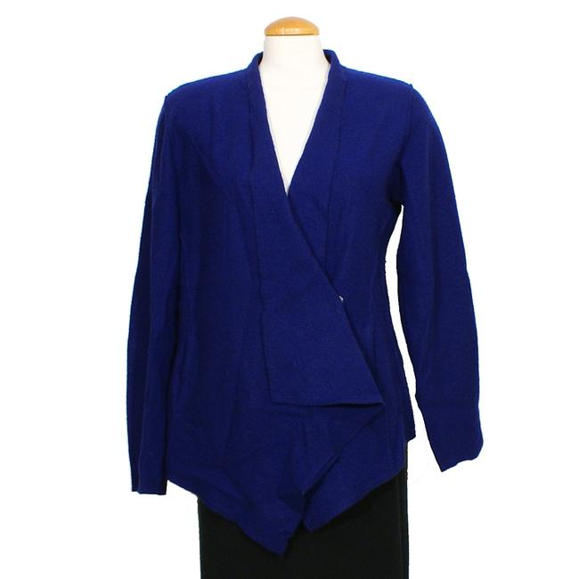 Item - Blue Violet XS Lightweight Boiled Wool Angled Jacket Blazer Size 2 (XS)