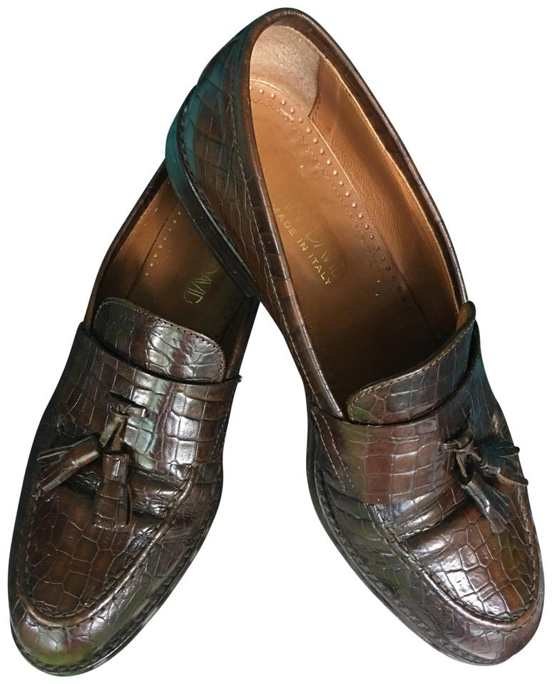 3059759b28f9c Joan & David Brown Vintage Hand Made All Leather Tassel Loafers Flats Size  EU 40 (Approx. US 10) Regular (M, B)