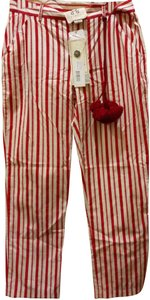 Figue Straight Pants Red white