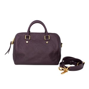 Louis Vuitton Monogram Leather Speedy Limited Edition Tote in Purple