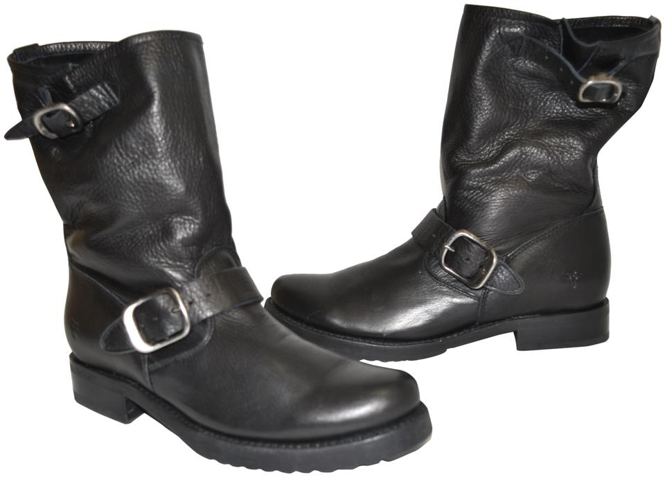 2981eed9f1e Frye Black Distressed Leather 'veronica Short' Slouchy Moto Biker (S1)  Boots/Booties Size US 8 Regular (M, B) 43% off retail