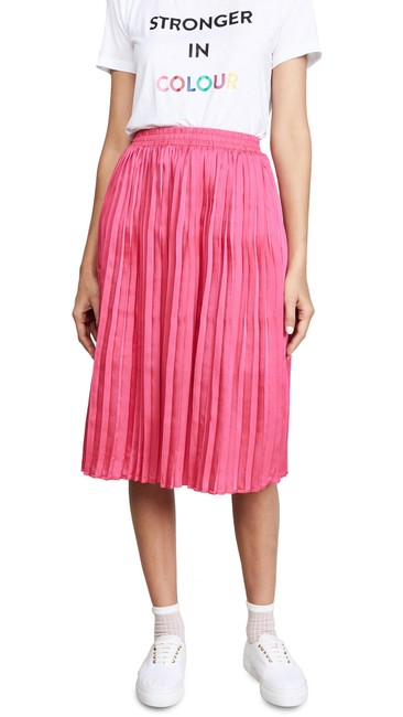 Item - Pink Confetti Stretch Waistband Pleated Skirt Size 6 (S, 28)