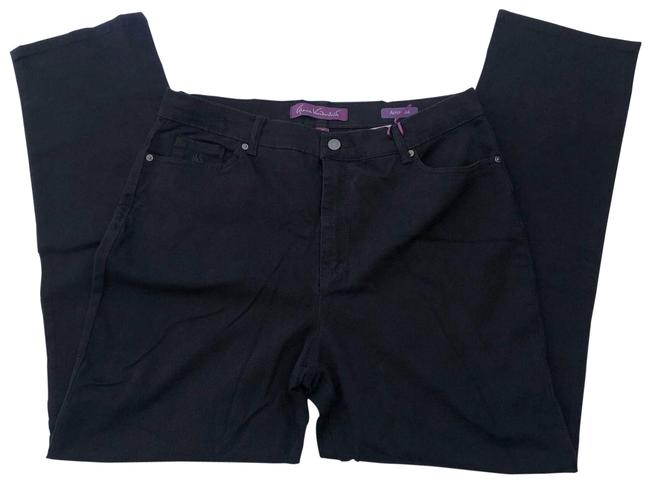 Item - Black Dark Rinse Slim Straight Leg Jeans Size 16 (XL, Plus 0x)