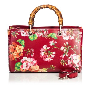 Gucci 9dgust007 Vintage Leather Satchel in Red