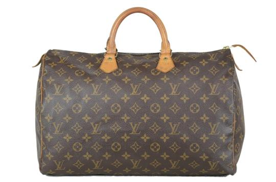 Louis Vuitton Speedy Monogram Canvas Tote in Brown Image 0
