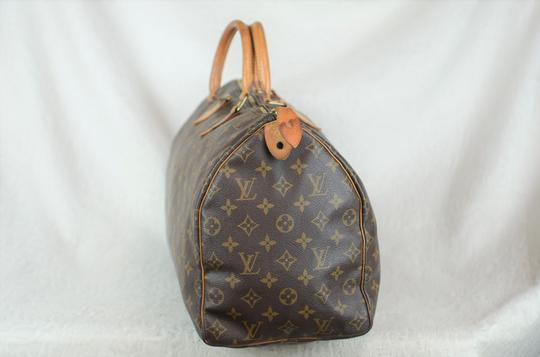 Louis Vuitton Speedy Monogram Canvas Tote in Brown Image 3