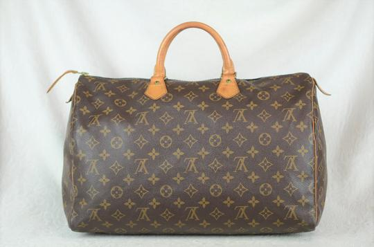 Louis Vuitton Speedy Monogram Canvas Tote in Brown Image 4