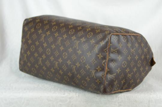 Louis Vuitton Speedy Monogram Canvas Tote in Brown Image 6