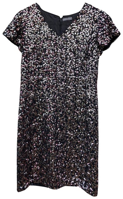 Vince Camuto Gilded Rose Sequin Short Cocktail Dress Size 4 (S) Vince Camuto Gilded Rose Sequin Short Cocktail Dress Size 4 (S) Image 1
