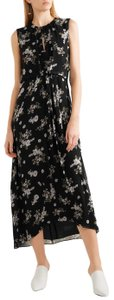 Black Maxi Dress by Vince Floral Silk