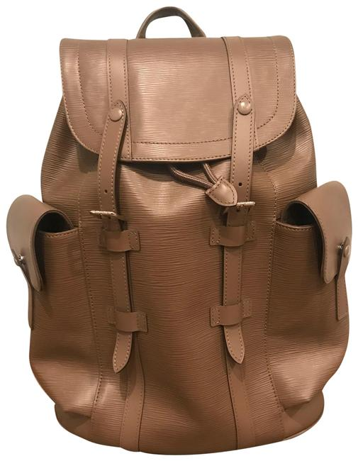 Item - Christopher Pm M50160 Taupe Epi Leather (Cuir) Backpack