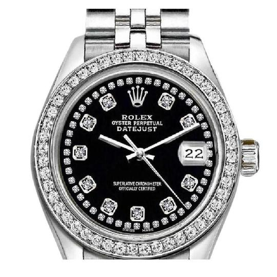 Preload https://img-static.tradesy.com/item/25626892/rolex-silver-and-black-ladies-26mm-datejust-with-custom-bezel-diamond-watch-0-0-540-540.jpg