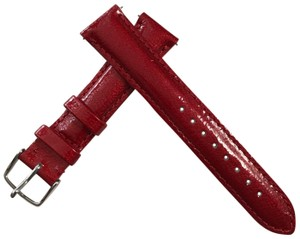 Michele NEW MICHELE AURORA RED Fashion Patent WATCH STRAPS 18mm MS18AA050615