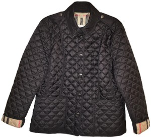 Burberry Brit Quilted Size Large Formfittng Classic Coat