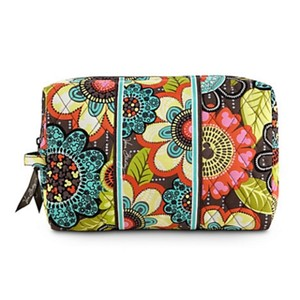 Vera Bradley VERA BRADLEY DISNEY LARGE COSMETIC CASE BAG Mickey's Perfect Petals