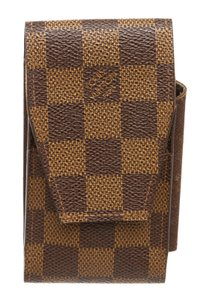 Louis Vuitton Louis Vuitton Damier Ebene Canvas Leather Cigarette Holder Case
