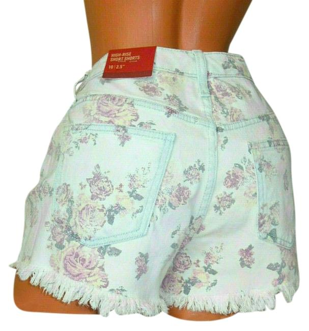Item - Multi-color High-rise Floral Rosey Wash Shorts Size 8 (M, 29, 30)