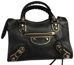 Balenciaga Satchel in black and gold