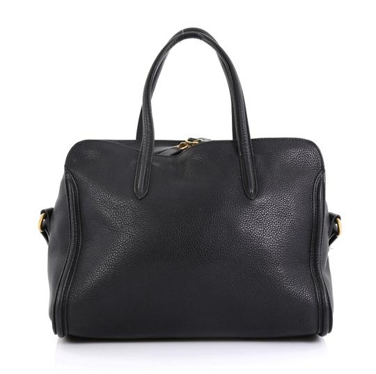 Alexander McQueen Leather Tote in black Image 2