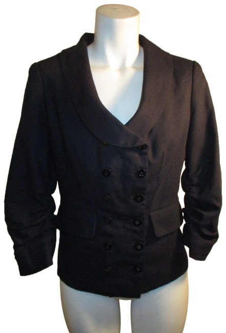 Item - Navy Anthropology 3/4 Sleeve Jacket Blazer Size 6 (S)