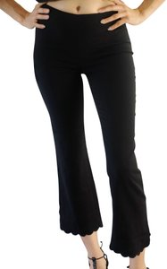 Moschino Scalloped Fitted Capris Black