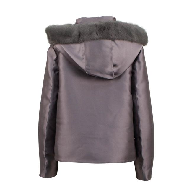 Valentino Gray Short Trim Hood Down Filled Coat Size 4 (S) Valentino Gray Short Trim Hood Down Filled Coat Size 4 (S) Image 2