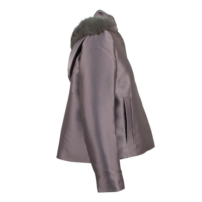 Valentino Gray Short Trim Hood Down Filled Coat Size 4 (S) Valentino Gray Short Trim Hood Down Filled Coat Size 4 (S) Image 3