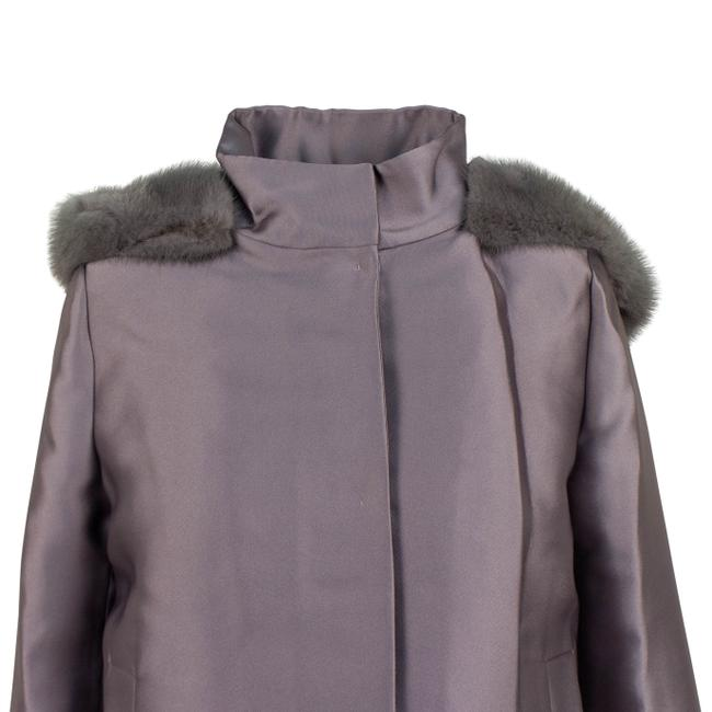 Valentino Gray Short Trim Hood Down Filled Coat Size 6 (S) Valentino Gray Short Trim Hood Down Filled Coat Size 6 (S) Image 4