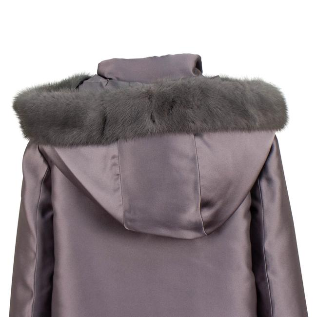 Valentino Gray Short Trim Hood Down Filled Coat Size 6 (S) Valentino Gray Short Trim Hood Down Filled Coat Size 6 (S) Image 5