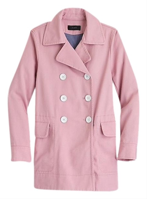 Item - Blush Pink Peacoat In Heavyweight Cotton Twill Jacket Size 16 (XL, Plus 0x)