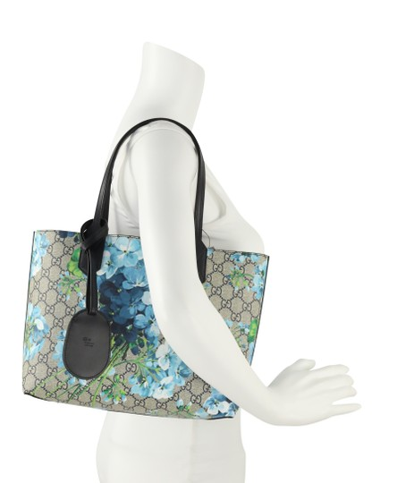 Gucci Canvas Leather Tote in Blue Image 10