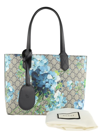 Gucci Canvas Leather Tote in Blue Image 11