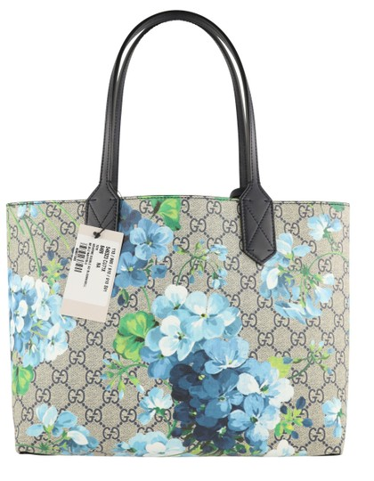 Gucci Canvas Leather Tote in Blue Image 2