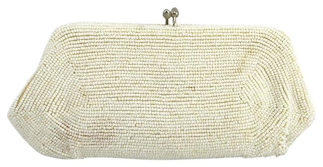 Item - Beaded #176-8 White/ Silver Blend Clutch