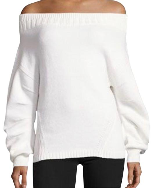 Item - Off Shoulder Wool Blend White Sweater