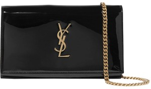 Saint Laurent Chain Patent Patent Leather Monogram Cross Body Bag