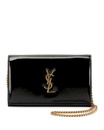 Saint Laurent Chain Patent Patent Leather Monogram Cross Body Bag Image 1
