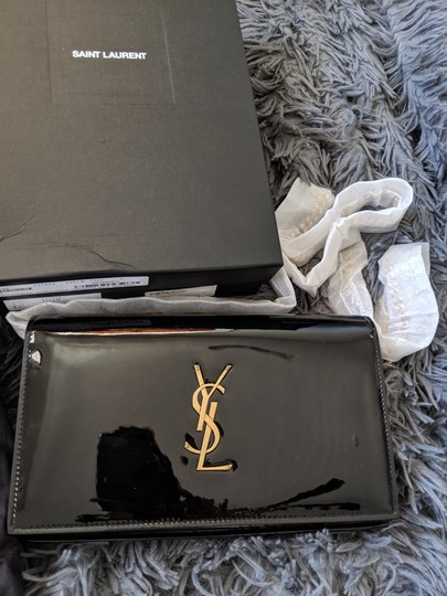 Saint Laurent Chain Patent Patent Leather Monogram Cross Body Bag Image 6