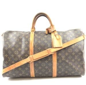 16e059a91 Louis Vuitton Keepall #31006 with Strap 50 Bandouliere Duffel Brown ...