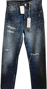 Acynetic Straight Leg Jeans-Distressed