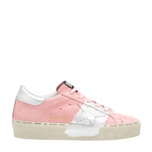 Golden Goose Deluxe Brand High Star Platform Pale Pink with Silver Athletic
