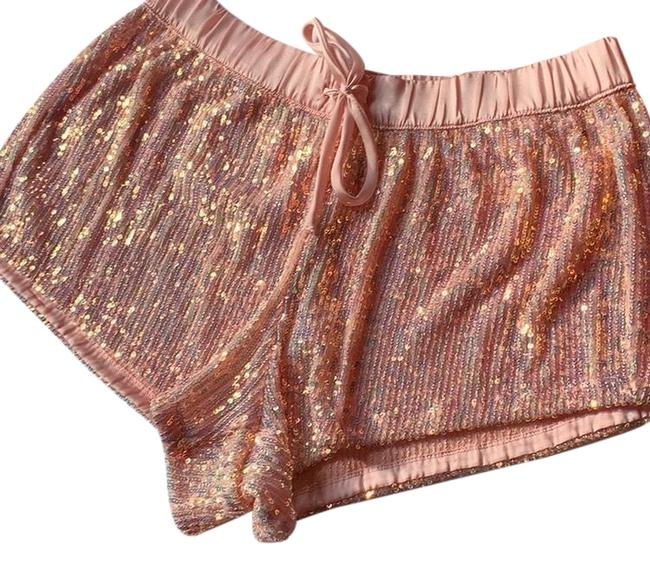 Item - Pink Sequin Irridescent Lounge Beach Shorts Size 4 (S, 27)